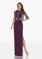 Tarik Ediz Lace Jewel Neck Dress with Jacket 92663