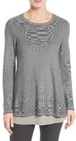 Eileen Fisher Women's Microstripe Pullover