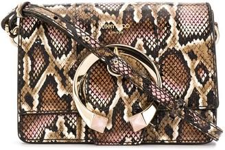 Jimmy Choo Madeline python-effect shoulder bag