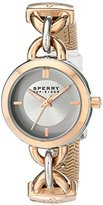 Sperry Women's 10015073 Lexington Stainless Steel Watch with White Band