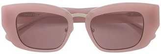 Linda Farrow x Dries Van Noten square-frame sunglasses