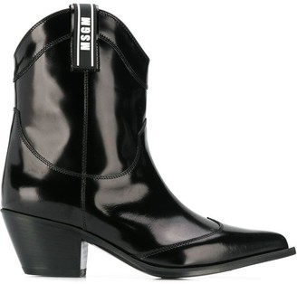 MSGM patent ankle boots