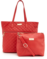 BCBGMAXAZRIA Raspberry Beverly Drive Tote & Crossbody Bag