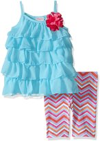 "Youngland Little Girls' ""Dotted Chevron"" 2-Piece Outfit"