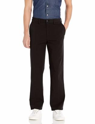 Savane Men's Flat Front Straight Fit Complete Comfort Khaki Chino