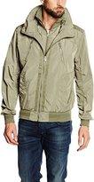 Best Mountain Men's BLOUSON HOMME ZIPPE Blouse Long Sleeve Raincoat,S