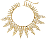 Fallon Raven Gold-Tone Pave Collar Necklace