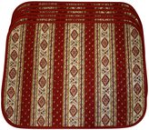 My French Neighbor Set of 6 Rectangular Quilted Placemats, French Provence Design, red and white
