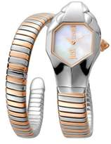Just Cavalli Womens Ss/rose Gold Watch With Silver Dial.