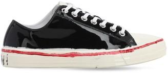 Marni Logo Wax Coated Canvas Sneakers