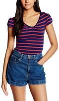 Jane Norman Women's Denise Striped Short Sleeve T-Shirt,6
