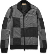 Burberry - Jacquard-knit Cashmere And Cotton-blend Zip-up Cardigan
