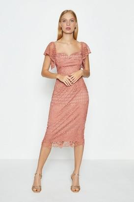 Coast Lace Sweetheart Neck Bardot Dress