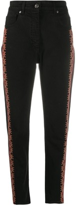 Etro Embroidered Edge Slim-Fit Jeans