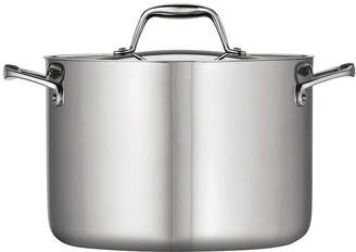 Tramontina Gourmet 5-qt. Tri-Ply Clad 18/10 Stainless Steel Induction-Ready Dutch Oven with Lid