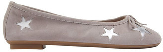 Sandler Astral Grey Suede/Silver Flat Shoes