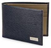 Salvatore Ferragamo New Revival Textured Calfskin Bifold Wallet