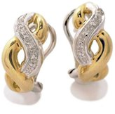 Tatitoto Gioie Women's Earrings in 18k Gold with Diamond H/SI (total diamonds 0.06 ct), 9 Grams