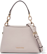 MICHAEL Michael Kors Portia Small Textured-leather Shoulder Bag - Light gray