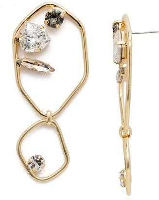Sorrelli Finley Statement Earrings- Bright Gold Finish