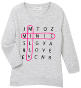 Milly Minis Word Search Intarsia Sweater (Big Girls)