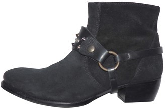 Bel Air Black Suede Ankle boots