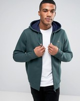 Lacoste Hoodie With Croc Logo In Green