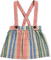 Burberry Check gathered cotton pinafore skirt