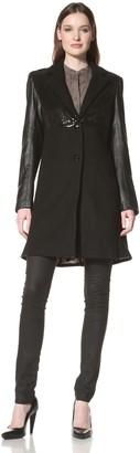 Sam Edelman Women's Wool Coat with Sequins