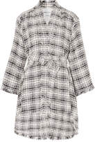 Sonia Rykiel Belted Cotton-blend Tweed Coat - White
