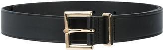 Frame Buckled Leather Belt