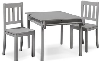 Sorelle Imagination Kids Table and Chair Set Color: Gray