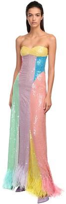 ATTICO The SEQUINED RAINBOW DRESS