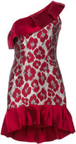 Christian Pellizzari single shoulder jacquard dress