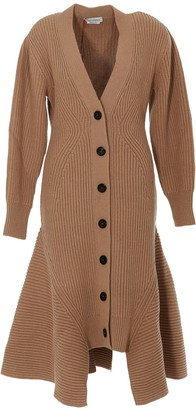 Alexander McQueen Flared Knitted Long Cardigan