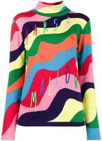 Mira Mikati Rainbow Marshmallow Roll Neck Jumper