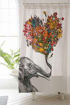 Urban Outfitters RococcoLA Happy Elephant Shower Curtain