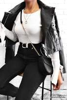 Forever 21 Faux Leather Grommet Moto Jacket