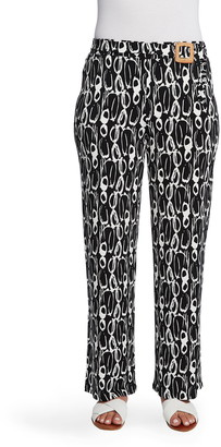 Chaus Abstract Movements Belted Pants