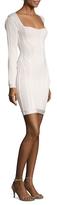 Herve Leger Pointelle Knit Sheath Dress