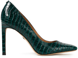 Sam Edelman Beth Croc-effect Leather Pumps