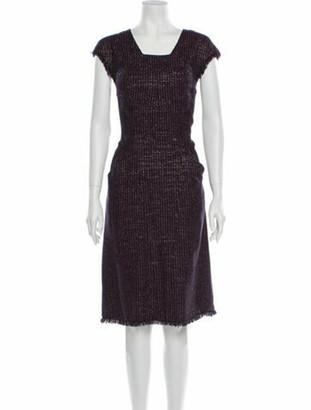 Chanel 2008 Midi Length Dress Purple