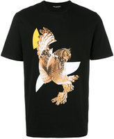 Neil Barrett modernist owl print T-shirt - men - Cotton - XS