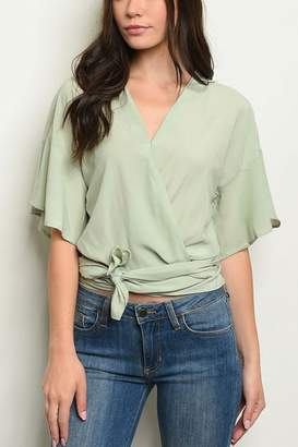 Lyn Maree's Light Weight Wrap Blouse