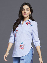 New York & Co. 7th Avenue - Madison Stretch Shirt - Embroidered Striped