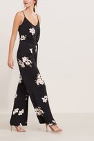 Dynamite Wide Leg Floral Jumpsuit with Sash