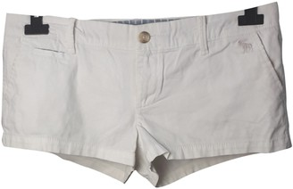 Abercrombie & Fitch White Cotton Shorts for Women
