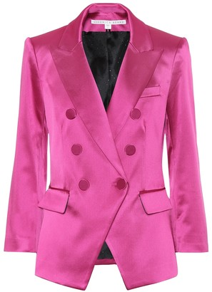 Veronica Beard Empire satin blazer