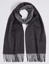 M&s Collection Reversible Pure Cashmere Woven Scarf