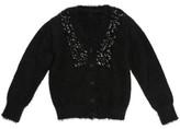 Billieblush Billie Blush Ceremonie Knitted Hairy Black Cardigan